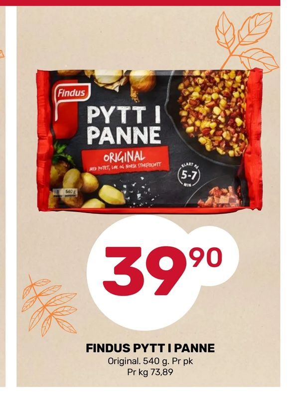 Deals on Findus pytt i panne from Coop Marked at kr39,90